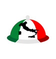 italy dish tray sign isolated food italian vector image vector image