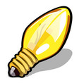 light bulb yellow color isolated on white vector image vector image