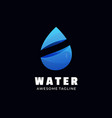 logo water gradient colorful style vector image