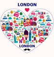 London new heart vector image vector image