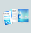 mockup design magazine cover vector image vector image