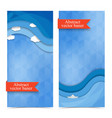 modern abstract decorative vertical banners vector image vector image
