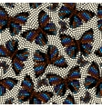 Mosaic with butterflies vector image