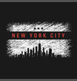 new york city t-shirt and apparel grunge style vector image vector image