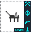 oil platform icon flat vector image vector image