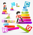 People Repairing - Maintaining Objects vector image vector image