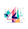 person stand on head near number four vector image