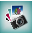 photo camera with snapshots vector image vector image