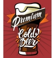 poster of cold beer vector image vector image