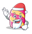 santa marshmallow character cartoon style vector image vector image