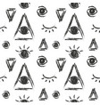 seamless pattern with eye of providence vector image vector image