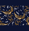 seamless pattern with phoenix vector image vector image