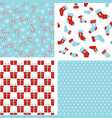 seamless winter patterns christmas backgrounds vector image vector image