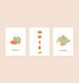 set autumn mood abstract greeting card vector image vector image