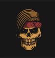 skull headband vector image