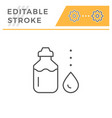 sports water bottle line icon vector image