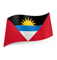 State flag of Antigua and Barbuda vector image