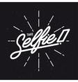 Take selfie lettering poster Vintage vector image vector image