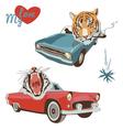 tiger designs vector image