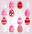 various easter eggs design from color paper vector image vector image