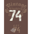 Vintage clothing 74 print vector image