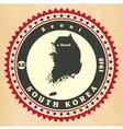 vintage label-sticker cards south korea vector image