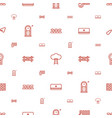 wall icons pattern seamless white background vector image vector image