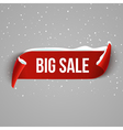 Winter Bug sale background with red realistic vector image vector image
