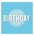 Happy Birthday design text icon Colorfull vector image