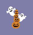 jack-o-lantern pumpkin and ghost vector image