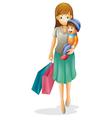 A mother and a kid vector | Price: 1 Credit (USD $1)