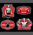 badge design for gym fitness vector image vector image