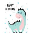 birthday card with badinosaur vector image vector image