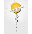 birthday card with broken balloon vector image vector image