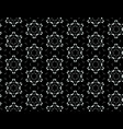 black and white seamless pattern of snowflakes vector image vector image