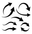 black flat curved arrows indicate direction