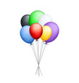 bunch of colorful balloons vector image vector image
