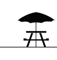 camping and picnic table icon vector image vector image