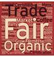 Certified Organic vs Fair Trade Certified text vector image vector image
