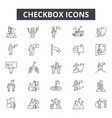 checkbox line icons signs set outline vector image vector image