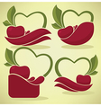 cherry stickers vector image vector image