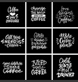 coffee quotes and titles on blackboard modern vector image vector image