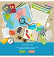 Concept of planning vacation vector image vector image