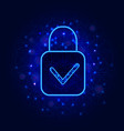 cyber security concept padlock with check mark on vector image vector image