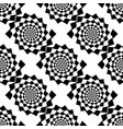 design seamless monochrome spiral movement vector image