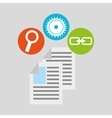 Document technology social media concept vector image