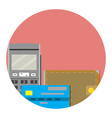 electronic money icon vector image