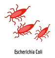 escherichia coli icon cartoon style vector image vector image