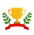 first place cup award sign icon prize for winner vector image