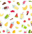 flat smoothie elements pattern or vector image vector image